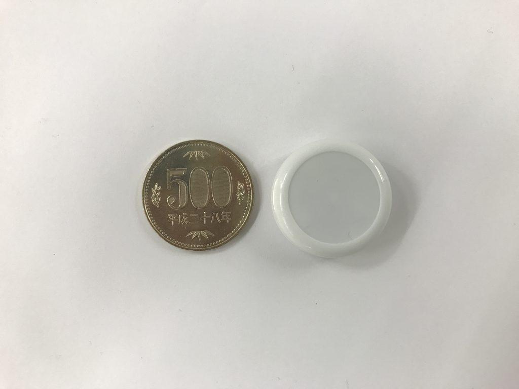 Beacon-02(Micro Beacon)と500円玉の比較