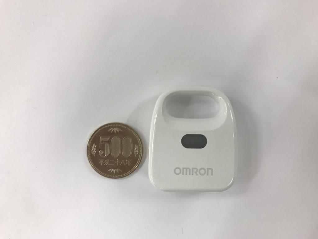 オムロン環境センサ2JCIE-BL01と500円玉の比較画像