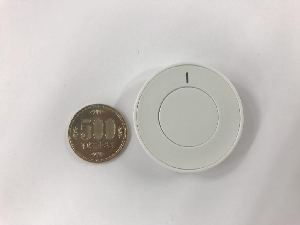 BTN01と500円玉の比較画像